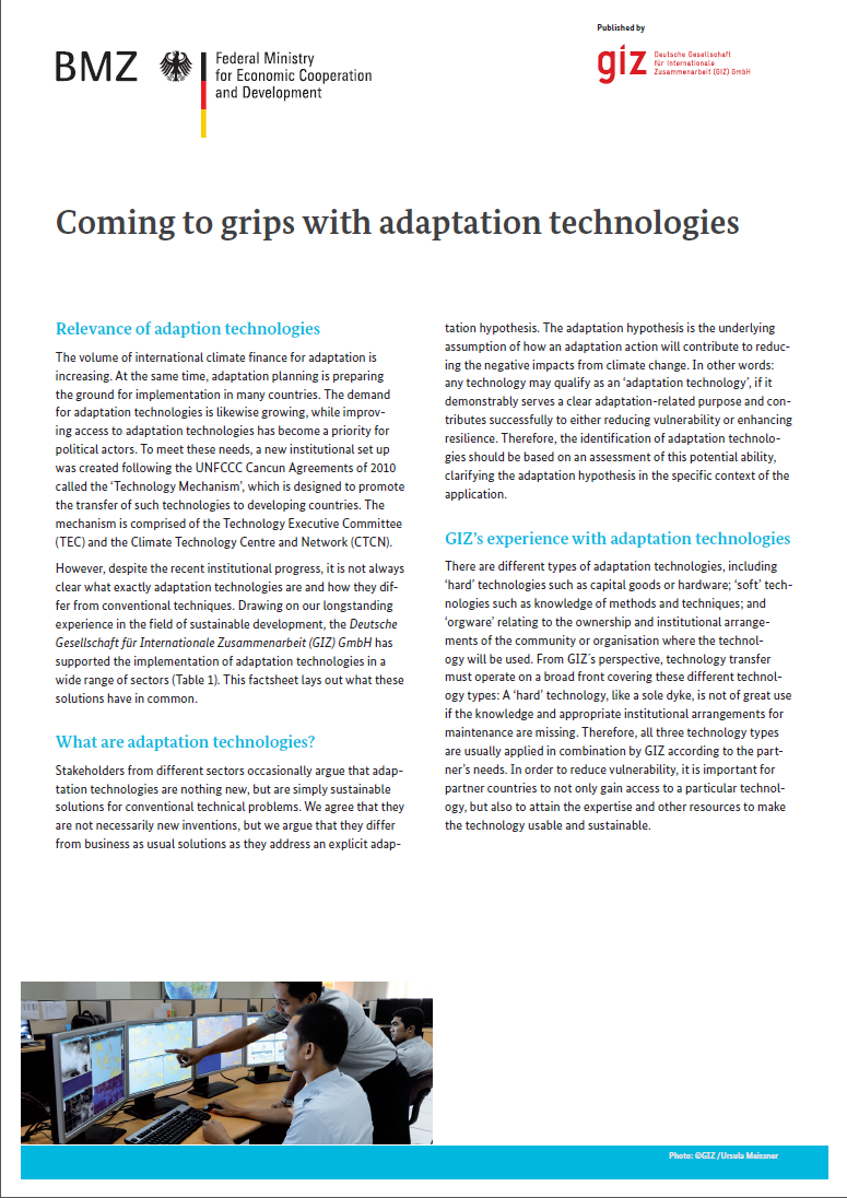 Coming to grips with adaptation technologies | CCARDESA